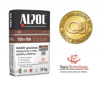 NANO-glaistas klinkerio siūlėms nuo 3 iki 10 mm ALPOL AZ 150 20 Kg (GRAFITINIS-SMULKIAGRŪDIS)