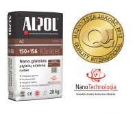 NANO-glaistas klinkerio siūlėms nuo 3 iki 10 mm ALPOL AZ 152 20 Kg (RUDAS-SMULKIAGRŪDIS)