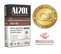 NANO-glaistas klinkerio siūlėms nuo 3 iki 10 mm ALPOL AZ 154 20 Kg (ŠVIESIAI PILKAS-SMULKIAGRŪDIS)