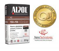NANO-glaistas klinkerio siūlėms nuo 3 iki 10 mm ALPOL AZ 155 20 Kg (JUODAS-SMULKIAGRŪDIS)