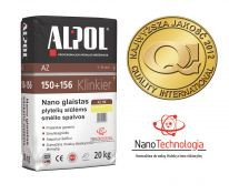 NANO-glaistas klinkerio siūlėms nuo 3 iki 10 mm ALPOL AZ 156 20 Kg (SMĖLINIS-SMULKIAGRŪDIS)