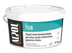 Gipsinių, cementinių tinkų gruntas ALPOL AG 708 (KONCENTRATAS) 15 Kg