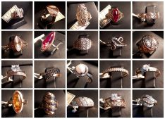 Auksiniai moteriški žiedai