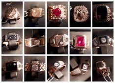 Auksiniai vyriški žiedai