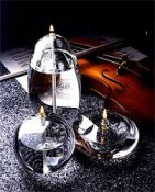Išskirtinio dizaino, rankų darbo stiklo žvakės