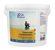 Lėtai tirpstančios 200g chloro tabletės CHEMOFORM CHEMOCLOR T (lėtas chloras), 5kg
