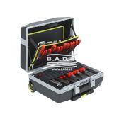 Įrankių lagaminas, su įrankių komplektu, su ratukais (132vnt)
