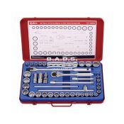 Įrankiai - Galvučių Ir Įrankių Komplektai - Įrankių komplektas dėžutėje (46vnt.) TW-446MS