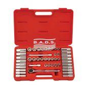 Įrankiai - Galvučių ir įrankių komplektai - Įrankių komplektas lagamine (47 vnt.) GS-347MS