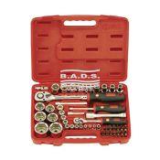 Įrankiai - Galvučių ir įrankių komplektai - Įrankių komplektas lagamine (54vnt.) EU-2454M