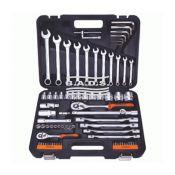 Įrankiai - Galvučių ir įrankių komplektai - Įrankių komplektas lagamine (77vnt.) 39877