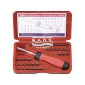 Įrankiai - Galvučių ir įrankių komplektai - Įrankių komplektas plastikinėje dėžutėje (37vnt.) SC-237M