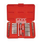 Įrankiai - Galvučių ir įrankių komplektai - Įrankių komplektas plastikinėjė dėžutėje (44 vnt.) GS-244MS