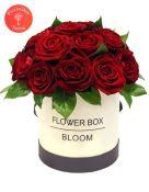 Raudonų rožių gėlių dėžutė