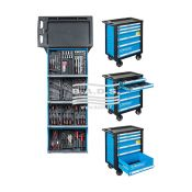 Įrankiai - Įrankių vežimėliai su įrankiais - Įrankių vežimėlis 6 st. su įrankių komplektu (136vnt) 1120156B