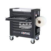 Įrankiai - Įrankių vežimėliai su įrankiais - Įrankių vežimėlis S9 su įrankių komplektu (354vnt) 735451