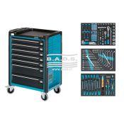 Įrankiai - Įrankių vežimėliai su įrankiais - Įrankių vežimėlis su įrankių komplektu (142vnt) 179-7/141