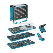 Įrankiai - Įrankių vežimėliai su įrankiais - Įrankių vežimėlis su įrankių komplektu (257vnt.) 179XXL-7/257
