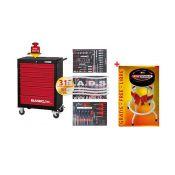 Įrankiai - Įrankių vežimėliai su įrankiais - Įrankių vėžimėlis su įrankių komplektu (310vnt) + dovana 836.7310