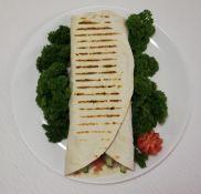 Vegetariškas kebabas lavaše