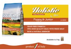 Alleva® Holistic Puppy & Junior, visavertis šunų ėdalas 3 kg