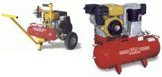 Kompresoriai su vidaus degimo varikliais