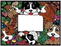 """Colorvelvet """"Rėmeliai su šuniukais"""""""