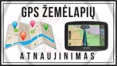 GPS žemėlapių atnaujinimas