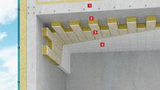 Akmens vata grindų durų šiltinimui