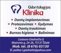 Dantų gydymas, protezavimas, implantavimas