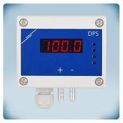 Дифференциальное давление, датчик расхода воздуха (с высоким разрешением) с дисплеем 0-2000 Па - Питание AC/DC