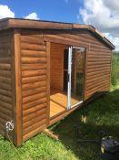 Pirtis sauna su vitrina