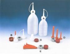 Plastiko buteliukai, klijų buteliukai, antgaliai
