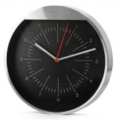 Reklaminis metalinis laikrodis su užrašu