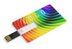 Reklaminė kortelės formos USB atmintinė su spauda