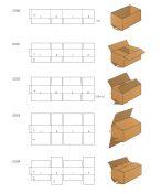 Gofruoto kartono dėžės (arba pakuotė) pagal Fefco katalogą