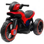 Elektromobilis motociklas Motor Police raudonas