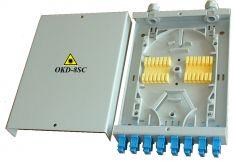 Sieninė optinio kroso dėžutė 8 skaidulų optiniam kabeliui OKD-8SC