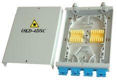 Sieninė optinio kroso dėžutė 8 skaidulų optiniam kabeliui OKD-4DSC