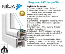 BrugBrugmann ARTLine profilio plastikinis langas