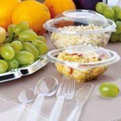 Plastikiniai indeliai konditerijos gaminiams, salotoms, uogoms, vaisiams