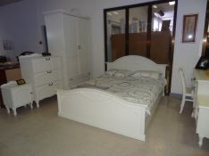 Baltas provanso stiliaus miegamojo komplektas Sapnas-7
