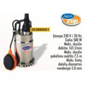 Vandens siurblys Subterra 500S H-7.5m 165l/min
