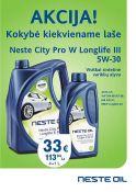 AKCIJA NESTE CITY PRO W LONGLIFE III 5W-30 4L+1L