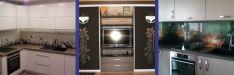 Dekoruotas stiklas virtuvei ir baldams