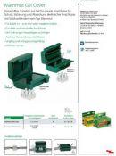 Gelinė dėžutė kontaktų izoliacijai, komplektas iš 8 vnt, Laidams 2x4 mm