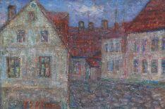 Amatų gatvelė, 1968 m., aliejus/drobė, 38x52 cm