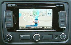 Volkswagen RNS310 2015 V7 Rytų (Lietuvos) ir Centinės, Vakarų Europos žemėlapiai