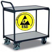 ESD vežimėliai 2-jų lentynų