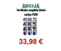 Saugiklių blokas 3pol. 00 vertik. 160A FD00-33K/FC (36147)